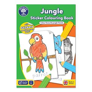 Picture of Carte de colorat cu activitati in limba engleza si abtibilduri Jungla JUNGLE